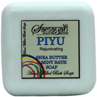 Samayah Piyu Handmade Bath Soap ( Shea Butter and Mint)