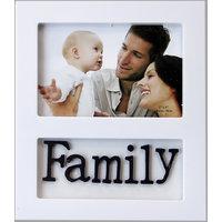 Basement Bazaar Plastic Family Photo Frame (White)