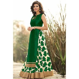 Designer Presents Georgette Party Wear Palazzo Pant Suit in Green Colour