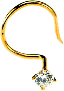 Diamond Nosepin in Yellow Gold - SAN29