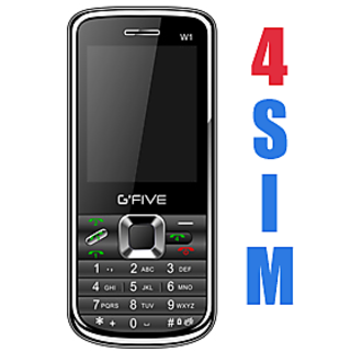 G'FIVE  W1 Four SIM Powerfull Battery - Black