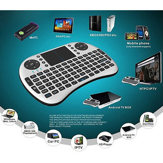 Gadget Hero's 2.4G Wireless Mini QWERTY Multimedia Keyboard Trackpad Mouse Combo For Mini PC Tablet Phones Media Players TV iPad