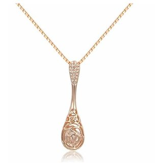 Kaizer Charismatic Water Drop Rose Gold Plated Pendent