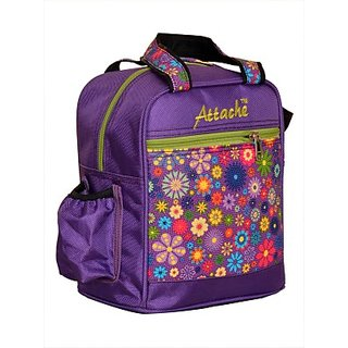 Attache Padded 1 Container Box (Red) Waterproof School Bag         (Multicolor, 4 L) 109PU