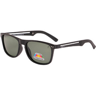 Super-X Polarized Wayfarer Sunglasses SXBLKGREEN-54161