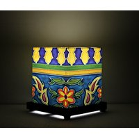 Moroccan blue and yellow  Table Lamp