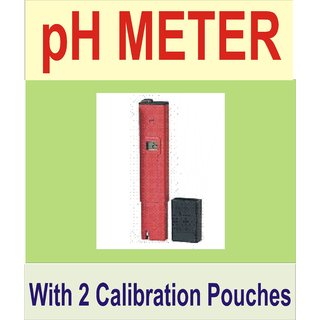 Digital Pen pH Meter Water Purity Tester Hydroponic Check + Buffer Capsules