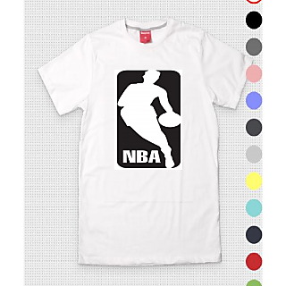 NBA Mens Round Neck White T-Shirt