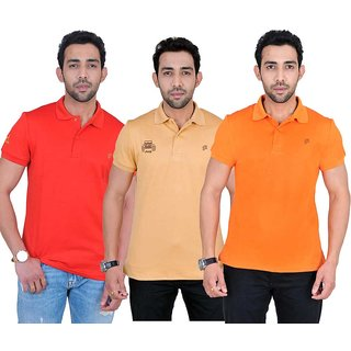 Fabnavitas Polo Neck Cotton T-shirt Pack of 3
