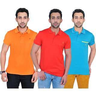 Fabnavitas Mens Casual Cotton Polo T-shirt Pack of 3