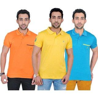 Fabnavitas Mens Casual Slim Fit Polo T-shirt Pack of 3