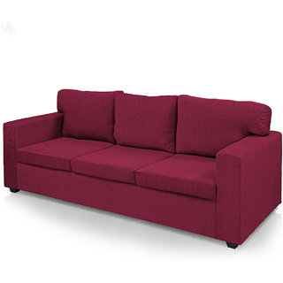 Earthwood -  Polly Fabric Upholstered Three-Seater Sofa Classic - Violet