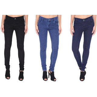 Womens 3 Combo Branded Jeans By Stylo Fashions
