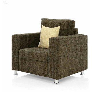 Earthwood -  Fully Fabric Upholstered Single-Seater Sofa - Premium Valencia Moss Green