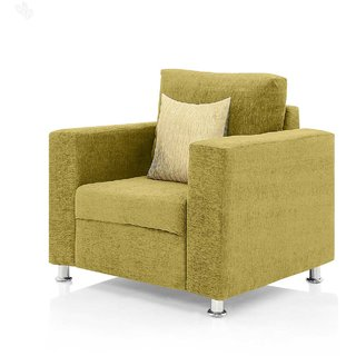 Earthwood -  Fully Fabric Upholstered Single-Seater Sofa - Classic Valencia Lime