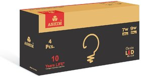ASHIM DESIRE 7W 2PC + 9W 2PC LED BULB COOL DAY LIGHT PACK OF 4
