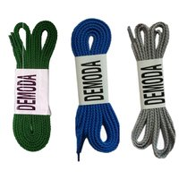 Demoda  Flat Shoe laces for Sports shoes/Sneakers/Casual shoes(Pack of 3 Pair- Green,Blue,Grey)