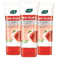 Joy Skin Fruits Softening Glow Fruit Face Pack 180 Ml (Pack Of 3 X 60 Ml)