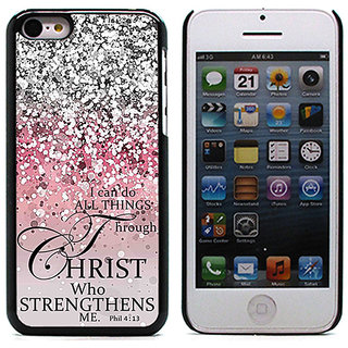 Unique Customise Design of I can do all the things throug Christ for Apple iPhone 5/5S
