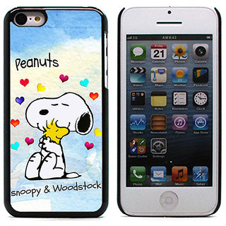 Unique Customise Design of Snoopy and Woodstock for Apple iPhone 5C