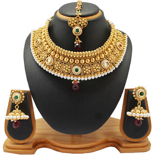 Soni Art Jewellery Traditional Wedding wear copper Necklace jewellery (0002)