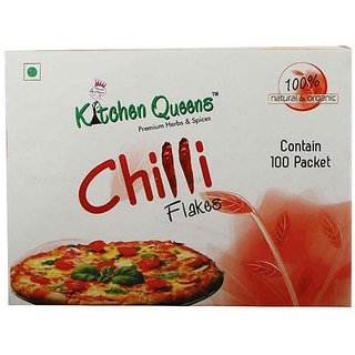 Kitchen Queens Chilli Flakes (Contain 100 Packets)