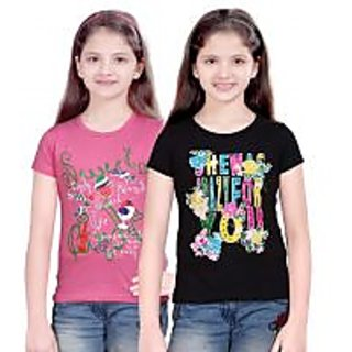 Ambitious Collection of Print Tshirt for Kids ( Pack of 2 )