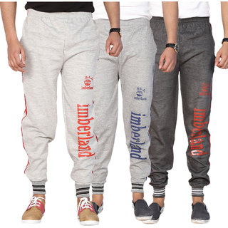 Swaggy Men's Multicolor Poly Cotton Trackpants Combo of 3