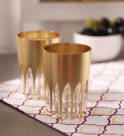 Eva Set of 6 Gold Tumblers by Merahomestore