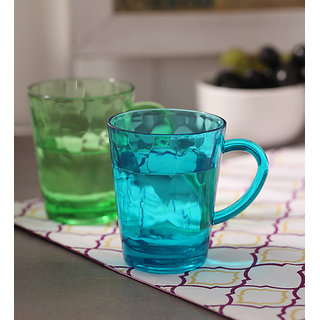 Eva Set of 6 Acrylic Multicolor Mugs by Merahomestore