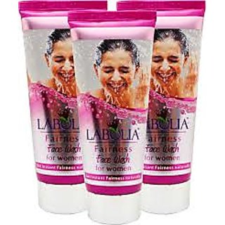 Labolia fairness face wash for women pack of 6 tubes 50g each