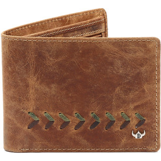 DHide Yellow Pure Leather Single fold Wallet for Men