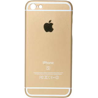 Iphone 6 Gold Plain Back Cover