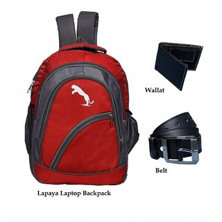 a997b1afe9f2 Buy Lapaya Red Nylon Casual Backpacks (Combo) Online - Get 71% Off