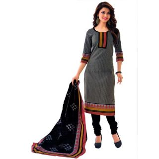 Shree Ganesh Pranjul Cotton Black Printed Unstitched Churidar Suit Dress Material