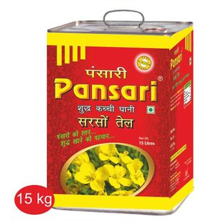 Pansari Kacchi Ghani Mustard Oil, Tin 15kg