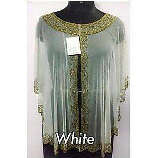 Elegant Wear White Poncho