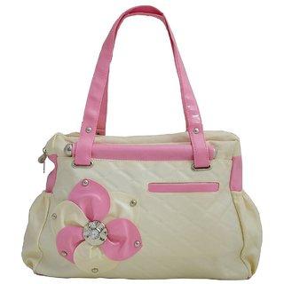 Womens Elegance Style Handbag Cream