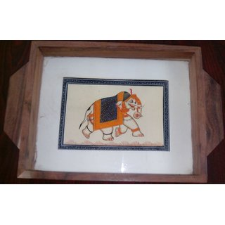Silk Painting Wooden Serving Tray