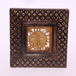 Dhokra Jaali Framed in Handcrafted Wood