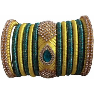Handmade Multicolor Silkthread Bangles for Women 007