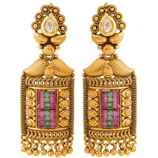 Jay Shreeya Creations Aesthetic Copper Dangle Earring