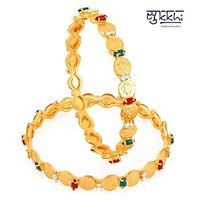 Sukkhi Gold Plated Color Lord Lakshmi Bangles