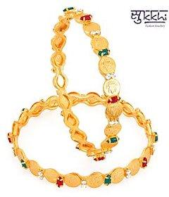 Sukkhi Gold Plated Color Lord Lakshmi Bangles