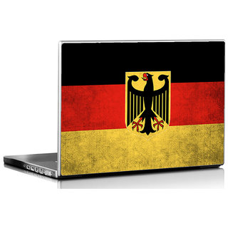 Seven Rays Grunge Germany Flag Laptop Skin