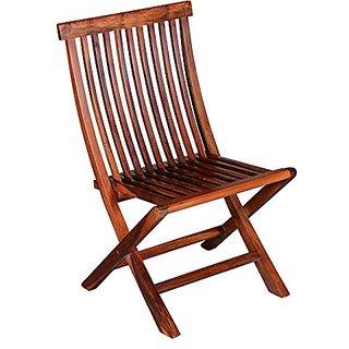 BM WOOD Furniture Sheesham Wood Folding Chair BROWN