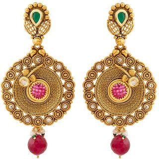 Jay Shreeya Creations Graceful Copper Dangle Earring