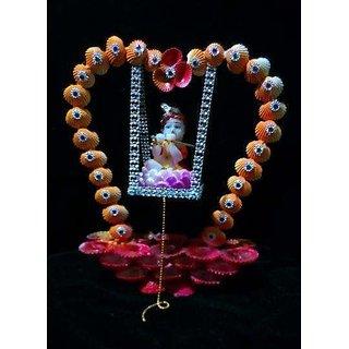Handmade Krishna Jhula, Beautiful Swing with Laddu Gopal