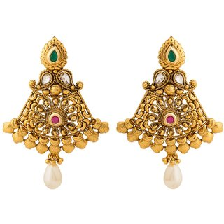 Jay Shreeya Creations Elegant Copper Dangle Earring