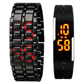TRUE COLORS COMBO OF MAGNETIC AND SAMURAI Digital LED  Watch - For Men